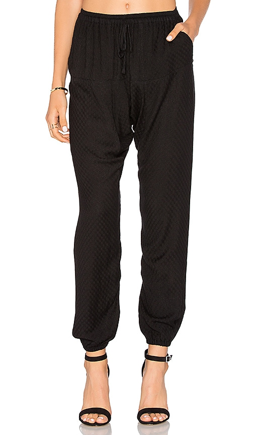 Flannel Portobello Pant in Black