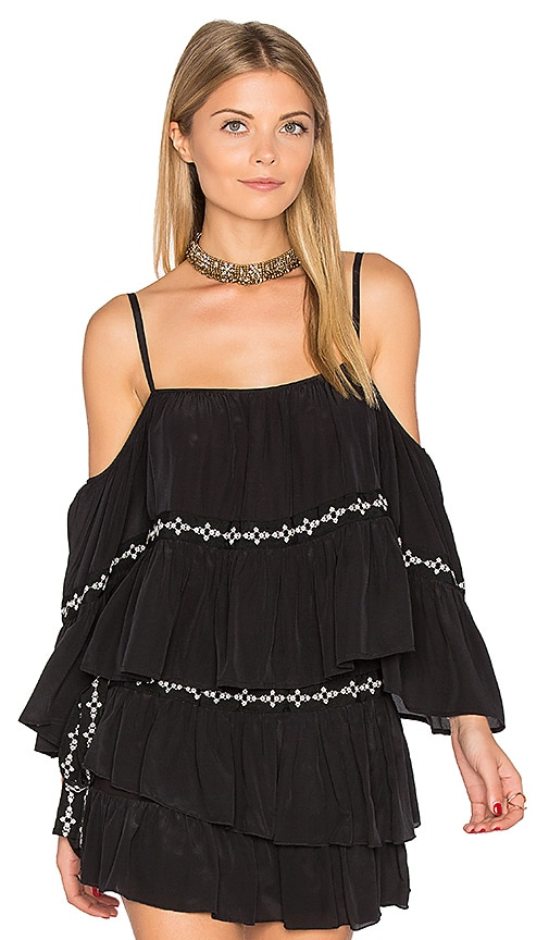 Flannel Australia Montmartre Off Shoulder Top in Black