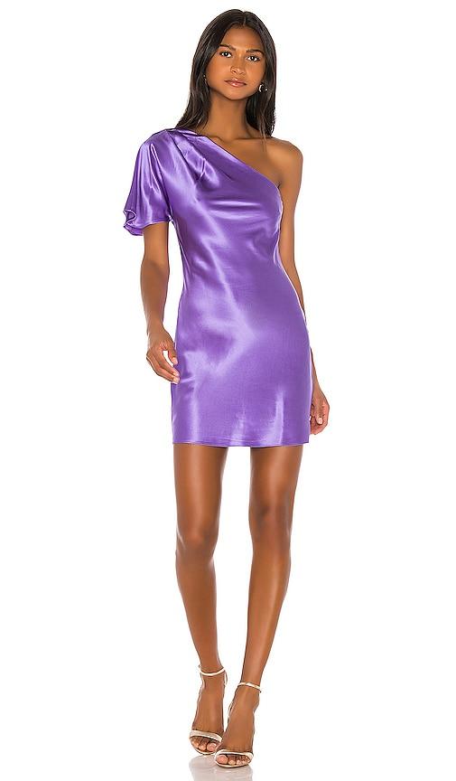 One Shoulder Bias Mini Dress by Fleur Du Mal