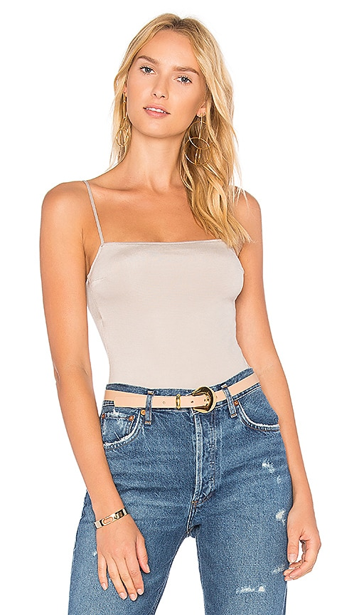 Straight Neck Bodysuit