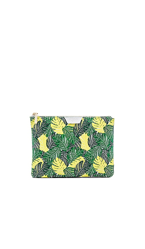 FLYNN Palmy Madison Clutch in Palm Green