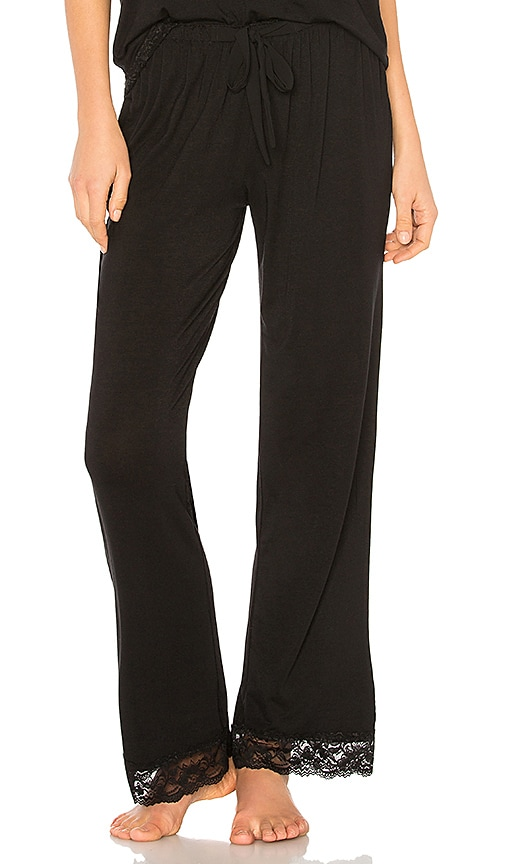 Flora Nikrooz Snuggle Knit Pant in Black