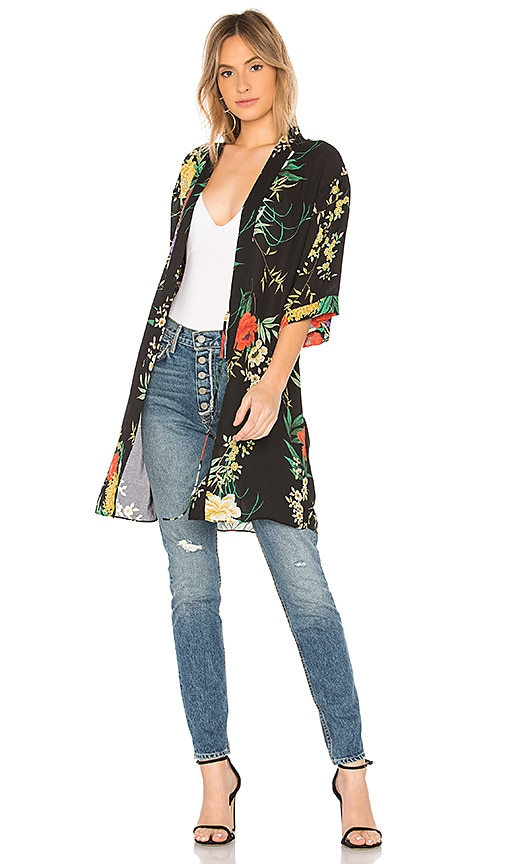 Flora Nikrooz Floral Robe in Black