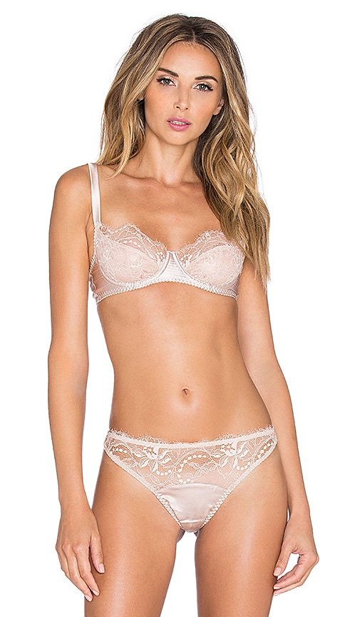 418a046ff70 Fleur of England Signature Collection Lace Balcony Bra in Nude