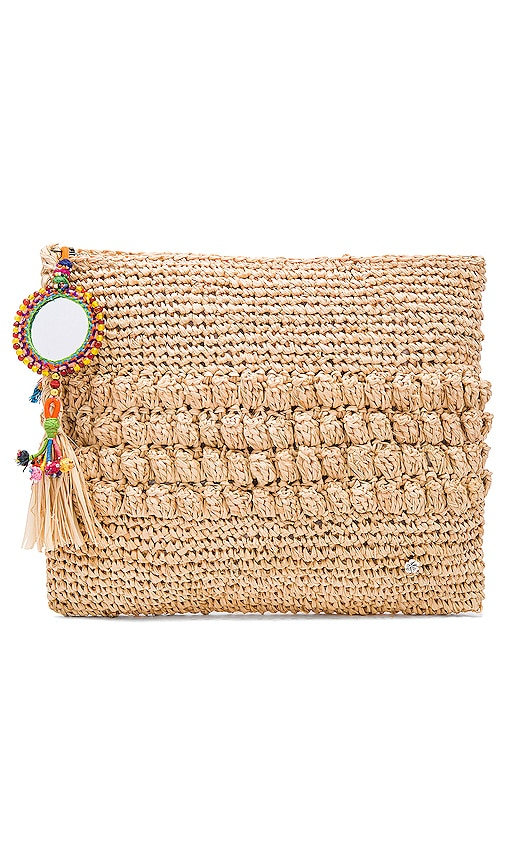 florabella Muga Clutch in Natural Multi