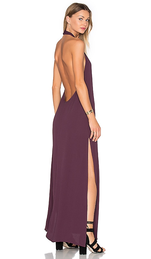 FLYNN SKYE Tyra Dress in Mulberry