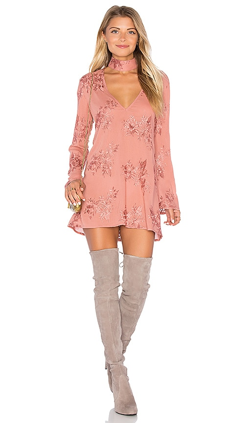 FLYNN SKYE Memphis Mini Dress in Blush