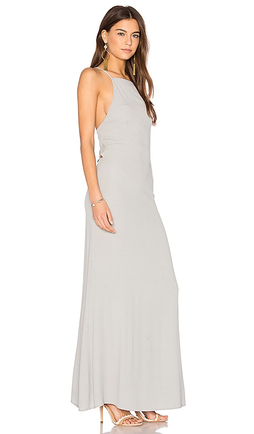 FLYNN SKYE Adaline Maxi Dress in Gray