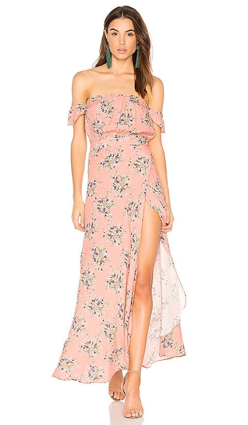 FLYNN SKYE Bella Maxi Dress in Coral