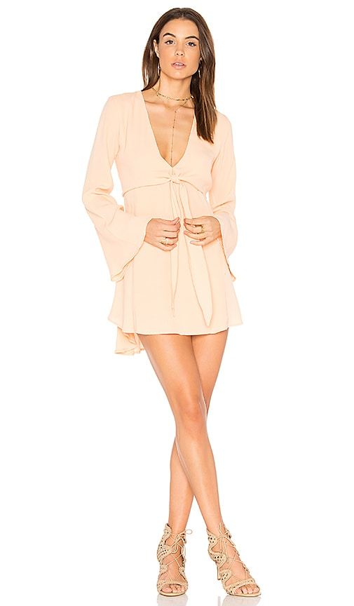 FLYNN SKYE London Mini Dress in Peach