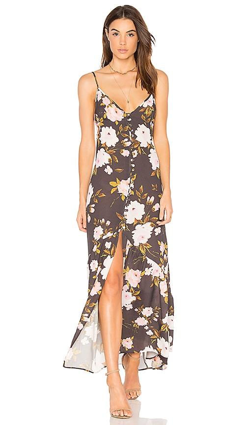FLYNN SKYE Unbutton Me Fresh Dress in Charcoal