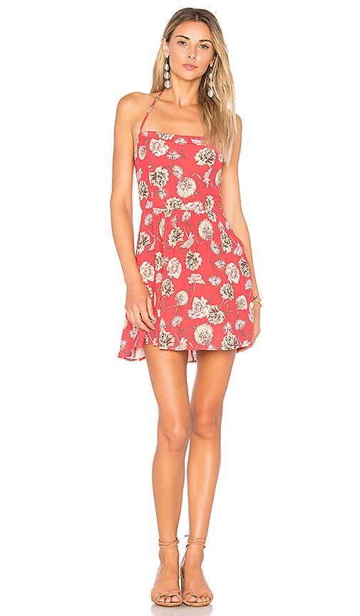 FLYNN SKYE Marissa Mini Dress in Coral