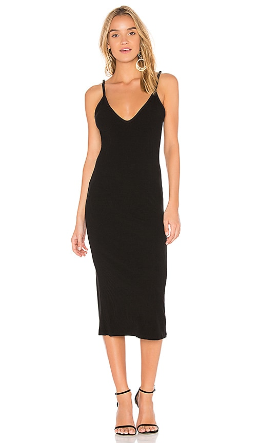 FLYNN SKYE Stella Slip Dress in Black