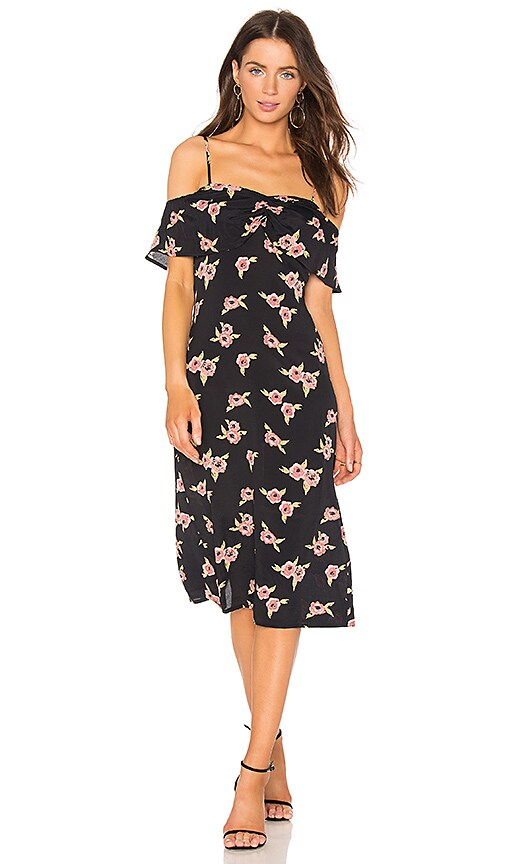 FLYNN SKYE Morgan Midi Dress in Black