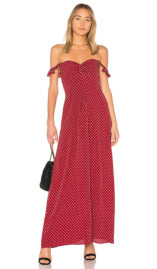FLYNN SKYE Carla Maxi Dress in Red
