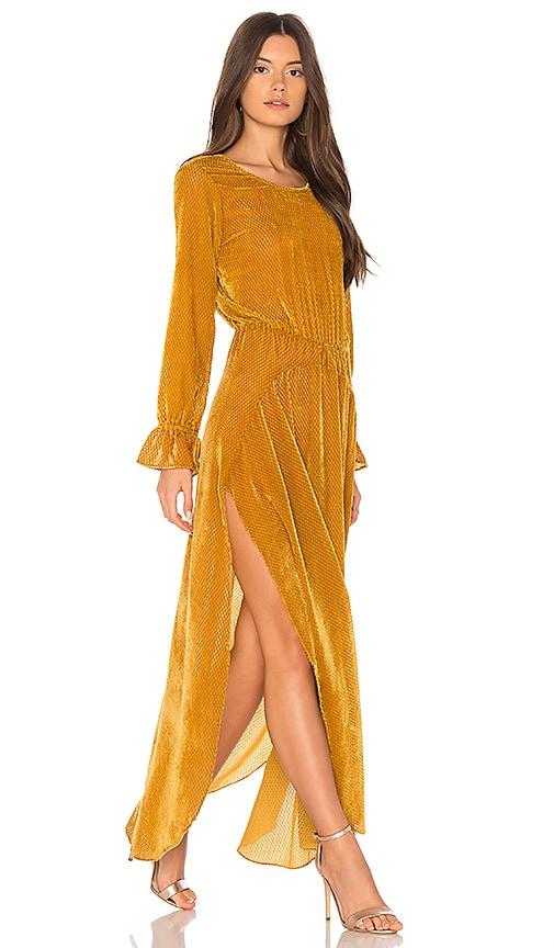 FLYNN SKYE Oakland Maxi Dress in Mustard