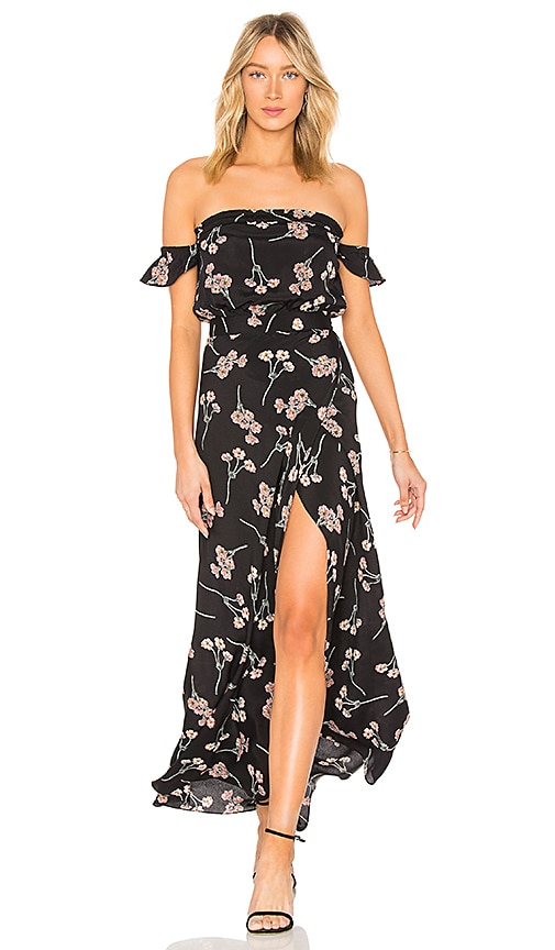 973223bec7 FLYNN SKYE Bella Maxi Dress in Black Cherry Blossoms