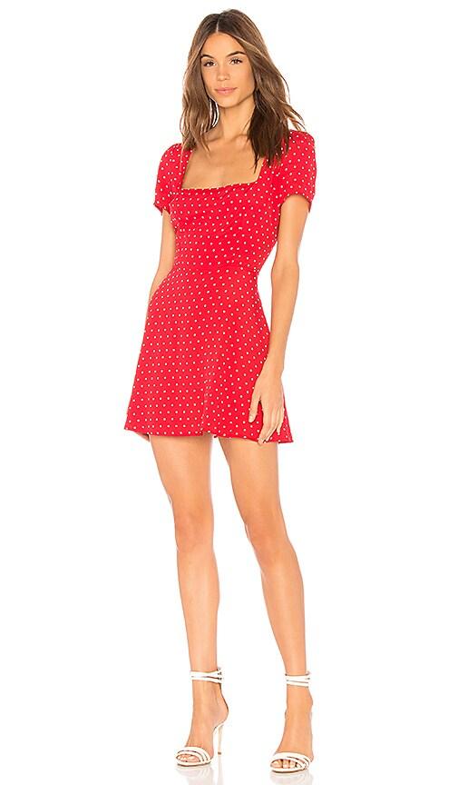 b70d1f0fea65 FLYNN SKYE Maiden Mini Dress in Cherry Dots | REVOLVE