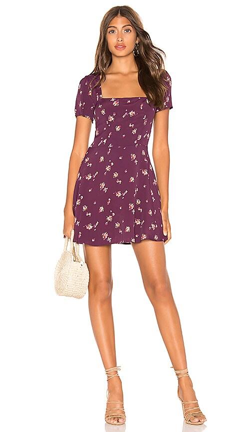 60c168f38321 FLYNN SKYE Maiden Mini Dress in Iris Blossom | REVOLVE