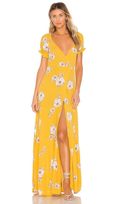 Annabelle Wrap Maxi Dress
