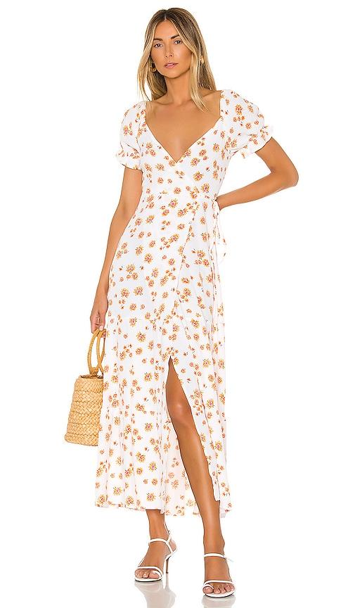 Annabelle Wrap Midi Dress