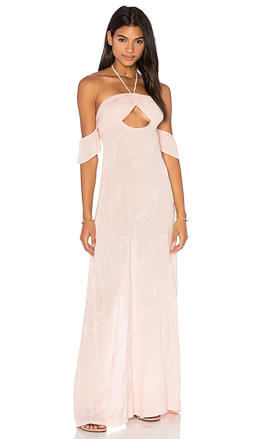 FLYNN SKYE Err Night Maxi Dress in Blush