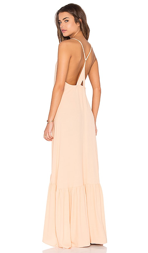FLYNN SKYE Topanga Maxi Dress in Peach