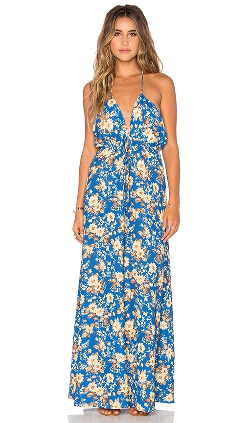 FLYNN SKYE Malia Maxi Dress in Blue