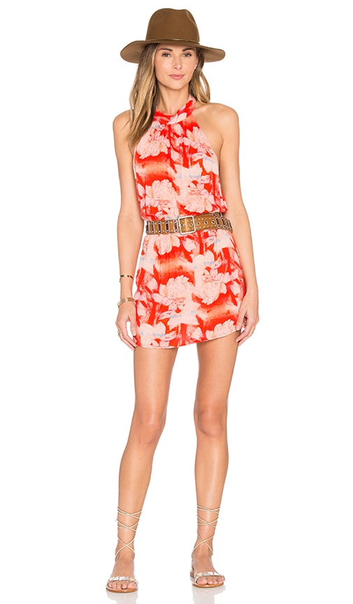 FLYNN SKYE Poppy Dress in Coral