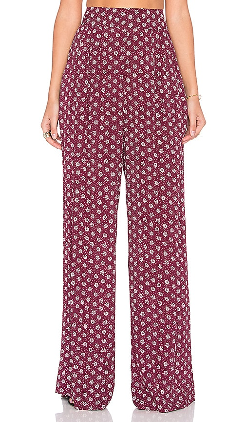 FLYNN SKYE Just High Pant in Ruby Daisy