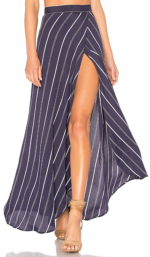 FLYNN SKYE Wrap It Up Skirt in Navy