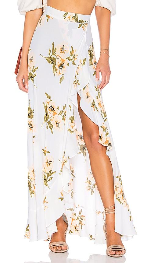 FLYNN SKYE Monica Maxi Skirt in White