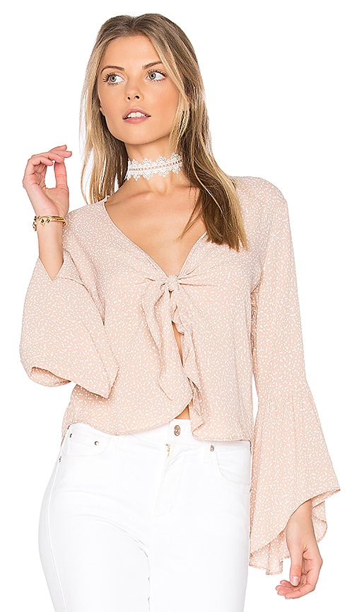 FLYNN SKYE Knot Your Business Top in Beige