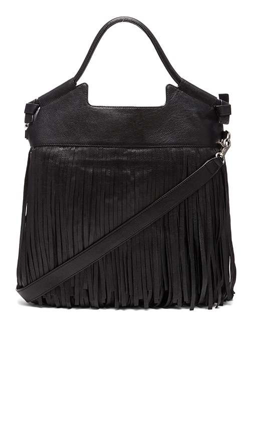 Foley + Corinna Fringed City Tote in Black