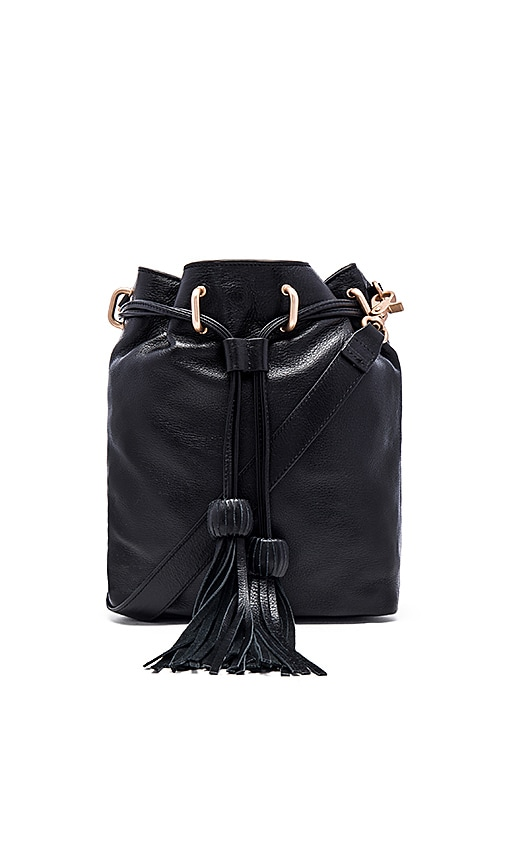 Foley + Corinna Sascha Drawstring Bucket Bag in Black