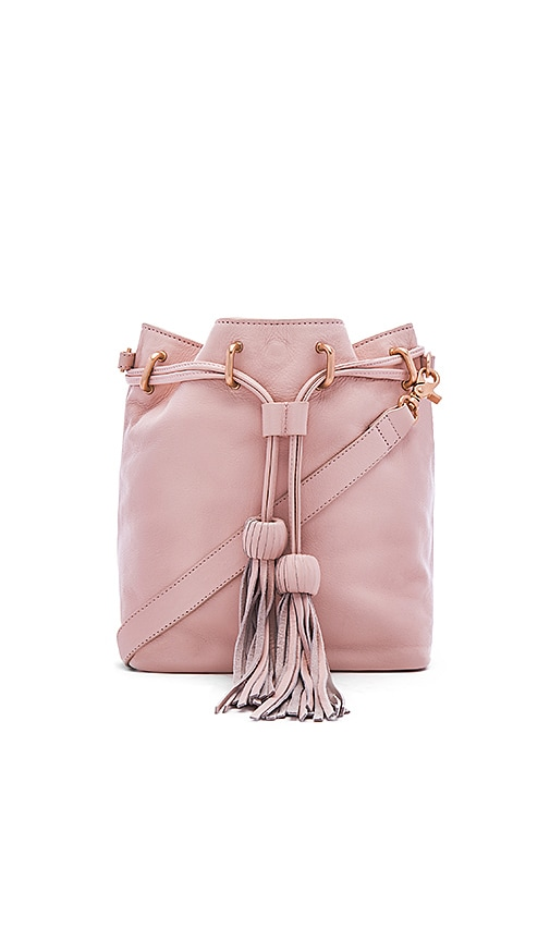 Foley + Corinna Sascha Drawstring Bucket Bag in Blush