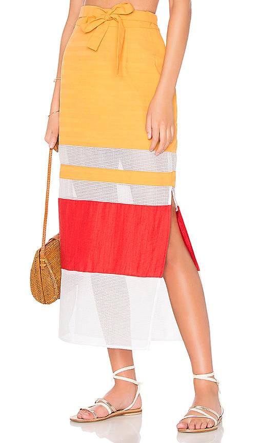 FLAGPOLE Nadine Skirt in Orange