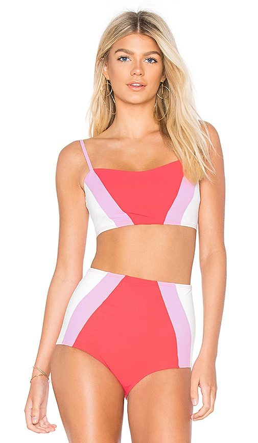 FLAGPOLE Perry Bikini Top in Pink
