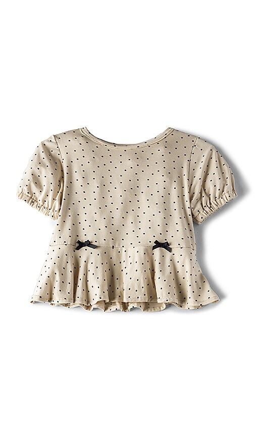 For Love & Lemons Buttercup Knit Shirt in Cream