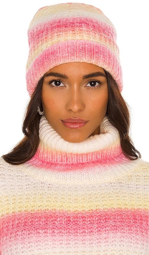 For Love & Lemons Rosa Beanie In Pink