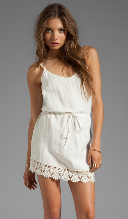 Tennessee Mini Dress with Lace Trim