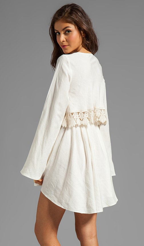 Luciana Long Sleeve Dress w/ Lace Detail