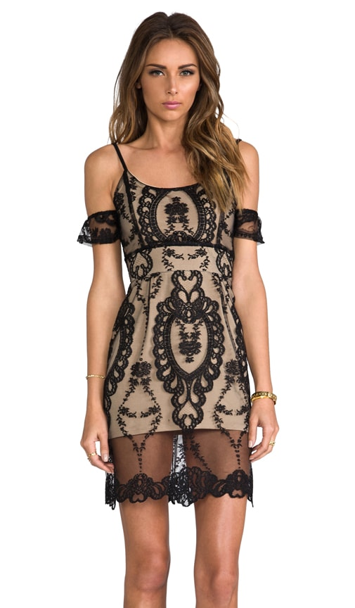 For Love & Lemons Vienna Off The Shoulder Lace Dress