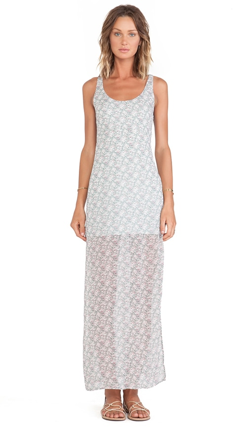 Midnight Cowgirl Maxi In Sage Floral