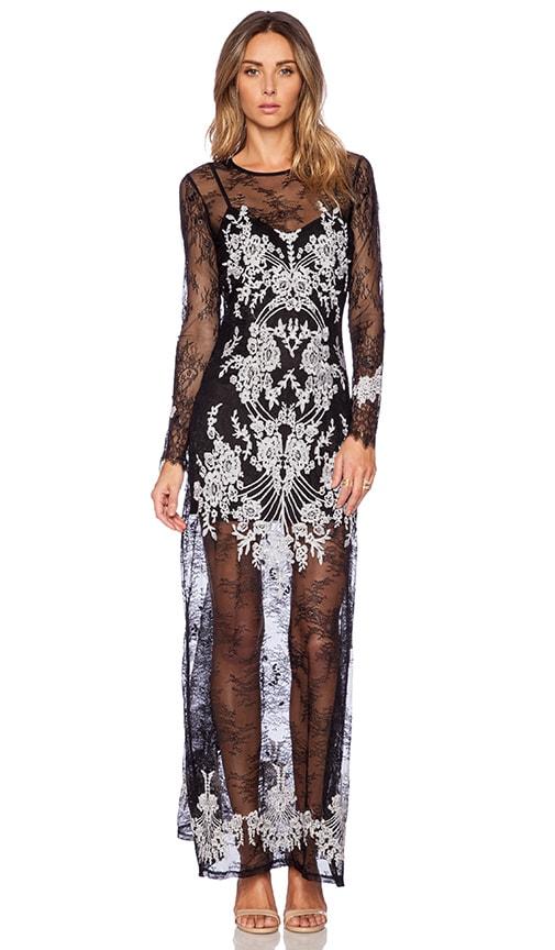 2c6fcd6de3 For Love   Lemons Lacey Dreams Maxi Dress in Black