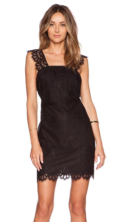 For Love & Lemons Tiki Bar Cocktail Dress in Black
