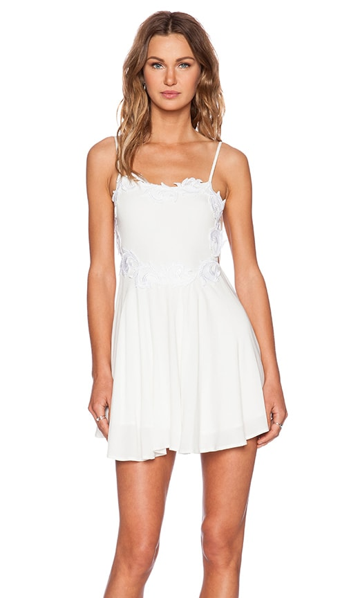 For Love & Lemons Sahara Mini Dress in White