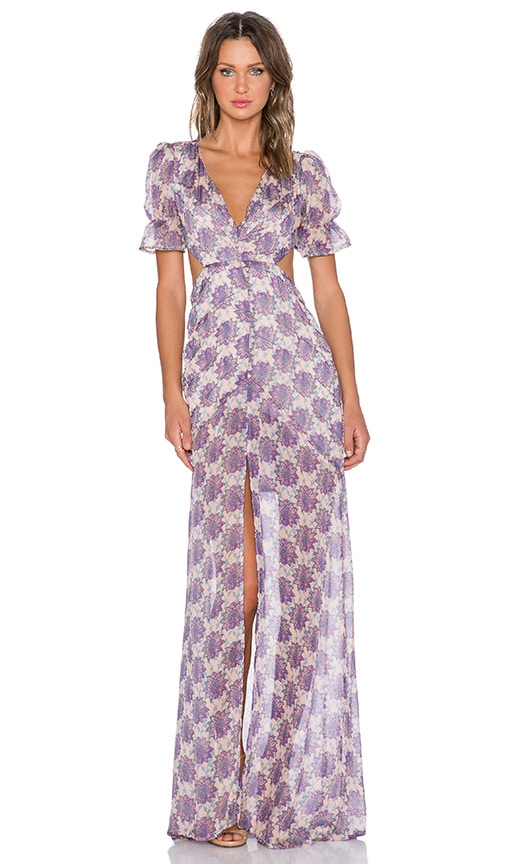 7634feb8ca For Love   Lemons Clover Maxi Dress in Lilac Print