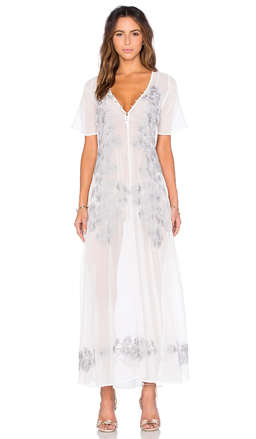 For Love & Lemons Sicily Maxi Dress in Ivory