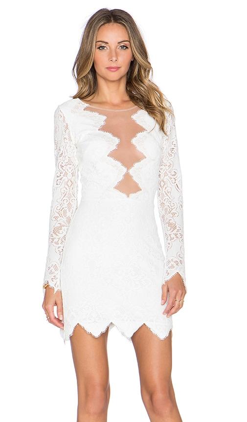 For Love & Lemons Noir Mini Dress in White